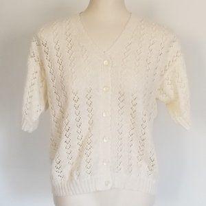 Vintage Short Sleeved Cardi (M/L)